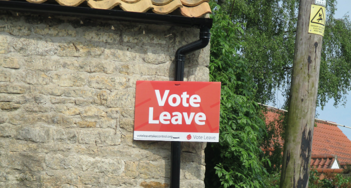 "image of ""Vote Leave"" sign"